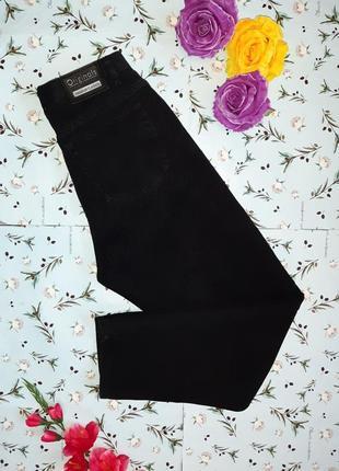 Акция 1+1=3 шикарные узкие высокие плотные черные мом mom джинсы, размер 46 - 48