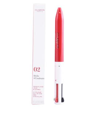Clarins stylo 4 couleurs четырехцветная ручка-подводка для глаз и губ