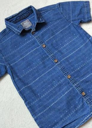 Джинсовая рубашка rebel на 7-8 лет рост 128 см