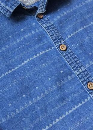 Джинсовая рубашка rebel на 7-8 лет рост 128 см3 фото