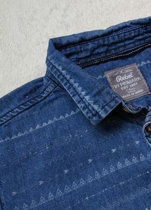 Джинсовая рубашка rebel на 7-8 лет рост 128 см4 фото