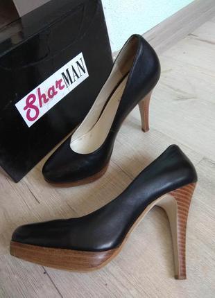 Туфли кожаные лабутен sharman размер 36 черные классика