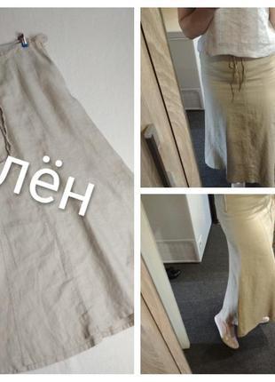 Актуальная льняная юбка-годе, h&m, p. 8-12