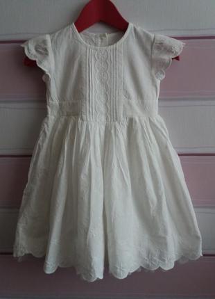Батистовое платье на 1,5-2 года