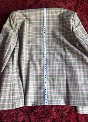 Двубортный пиджак в клетку3 фото