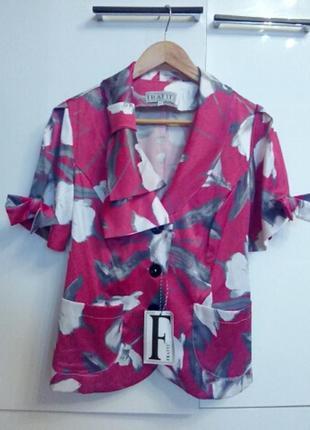 Летний пиджак кордиган блуза 46-50р.