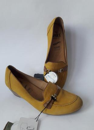 Туфли кожаные. (нубук) германия,,caprice,,размер 37,5