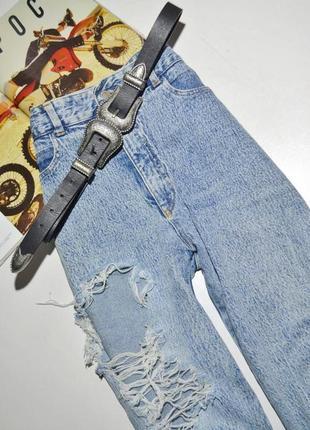 Стильні рвані джинси з високою посадкою💣