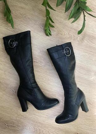 Демисезонные кожаные сапоги 23,5 см