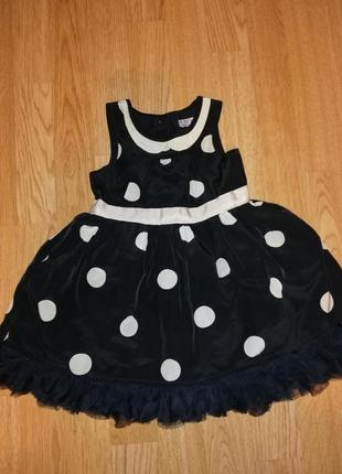 Атласное платье на девочку нарядное на годик