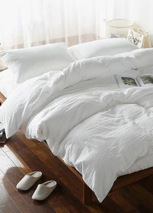 Лен белый умягченный,льняное постельное белье