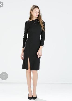 Крутое миди платье из плотной ткани от zara
