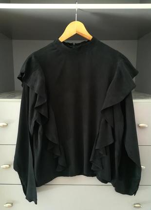 Блуза с воланами h&m