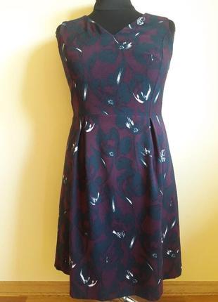 Платье в изумительный принт на пышные формы ( xl-xxl)