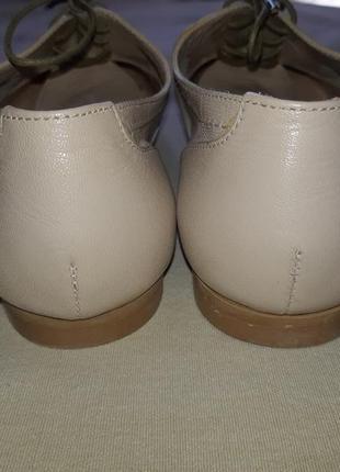 Легкие кожаные туфли броги лоферы оксфорды на шнуровке2 фото
