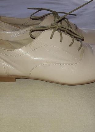 Легкие кожаные туфли броги лоферы оксфорды на шнуровке4 фото