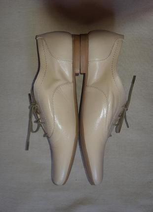 Легкие кожаные туфли броги лоферы оксфорды на шнуровке5 фото