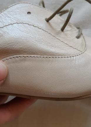 Легкие кожаные туфли броги лоферы оксфорды на шнуровке6 фото