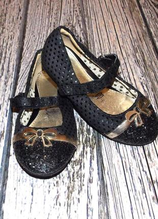 Гламурные фирменные туфли для девочки, размер 26