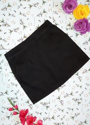 Акция 1+1=3 фирменная плотная серо-черная короткая джинсовая юбка topshop, размер 44 - 46