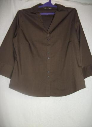 Рубашка коричневая легкая