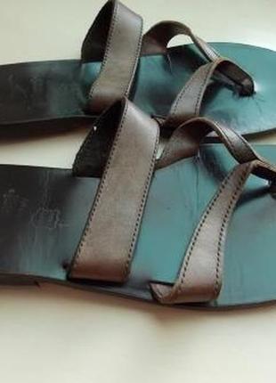 Стильные кожаные шлепанцы gallucci р-р35 италия