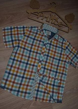 Рубашка шведка мальчику next 5л