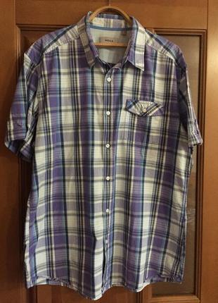 """Мужская рубашка с коротким рукавом """" mexx"""". (батал)"""