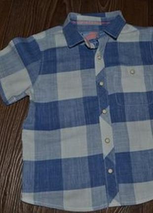 Рубашка шведка стиляге next 3-4г сост отл