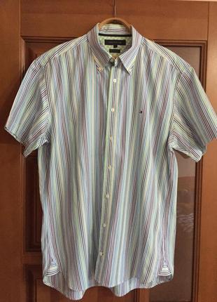 "Мужская рубашка с коротким рукавом ""tommy hilfiger """