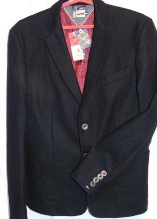 Hilfiger denim шикарная пиджак шерсть - l - xl8 фото