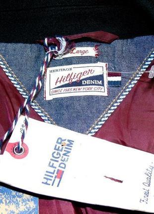 Hilfiger denim шикарная пиджак шерсть - l - xl5 фото