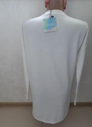 Удлиненный свободный свитер -туника4 фото