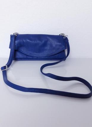 Удобная кожаная сумочка vera pelle