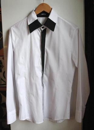17a676b84ae Черно-белые мужские рубашки 2019 - купить недорого мужские вещи в ...