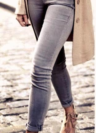 Стильные оригинальные женские джинсы/джеггинсы пепельного цвета/батал tcm tchibo.