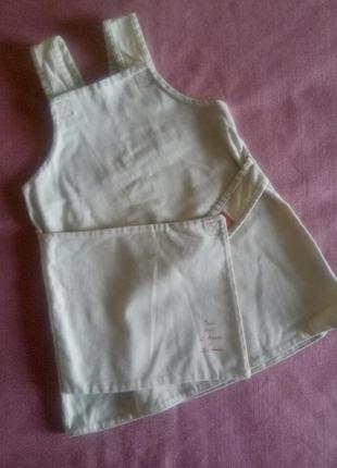Белый сарафан на девочку 2-3 лет