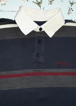 Акция 1+1=3 фирменные свитер поло в полоску pierre cardin, размер 48 - 50