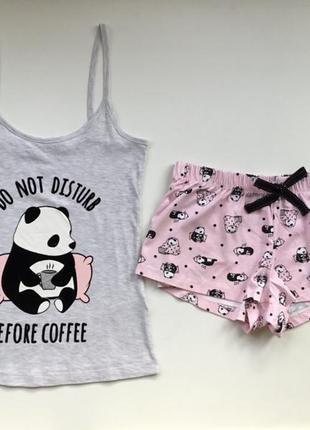 Классная фирменная пижама майка/шорты панда 🐼 primark