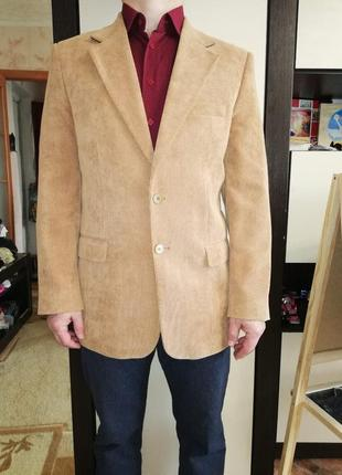 Шикарный вельветовый пиджак фирмы vels, 48 размера