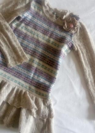 Вязаное платье на девочку