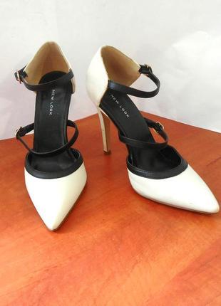 Стильные босоножки-лодочки / открытые туфли new look, р.38 код l3810