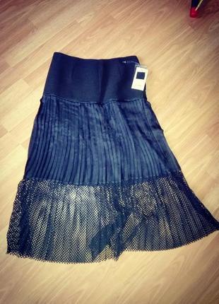 Ультрасовременная юбка с сеткой