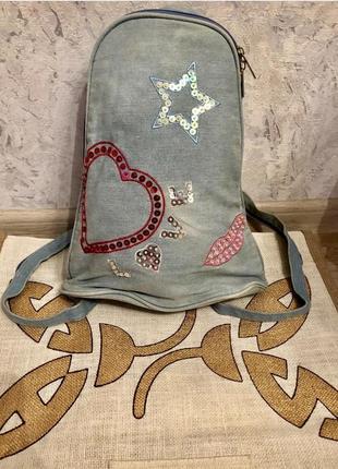 Рюкзак. джинсовый рюкзак