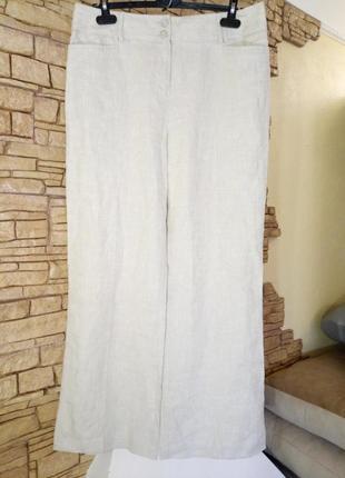 Льняные широкие брюки,кюлоты