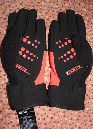 Теплые перчатки с гелиевыми накладками crivit р 7,5