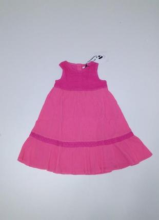 Платье хлопковое v by very для девочки р 18-24 мес на 1-2 года
