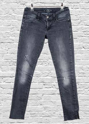 Черные скинни рваные, черные джинсы рваные, приталенные джинсы черные