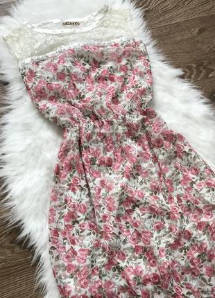 Платье в цветочный принт ichi