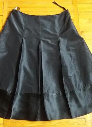 Черная шелковая юбка hobbs размер 46-48